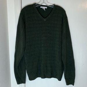 Geoffrey Beene Green Long Sleeve Sweater